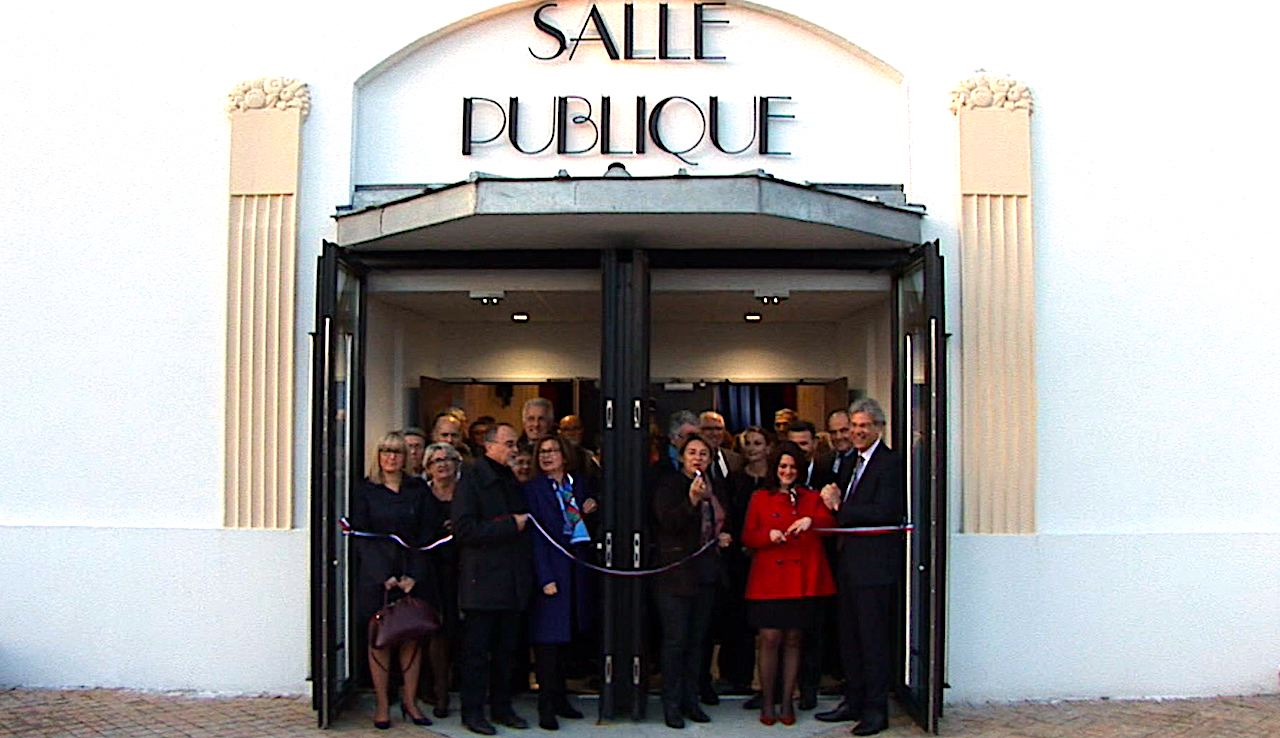 le teich inauguration de la salle publique qui a retrouv son architecture art d co. Black Bedroom Furniture Sets. Home Design Ideas